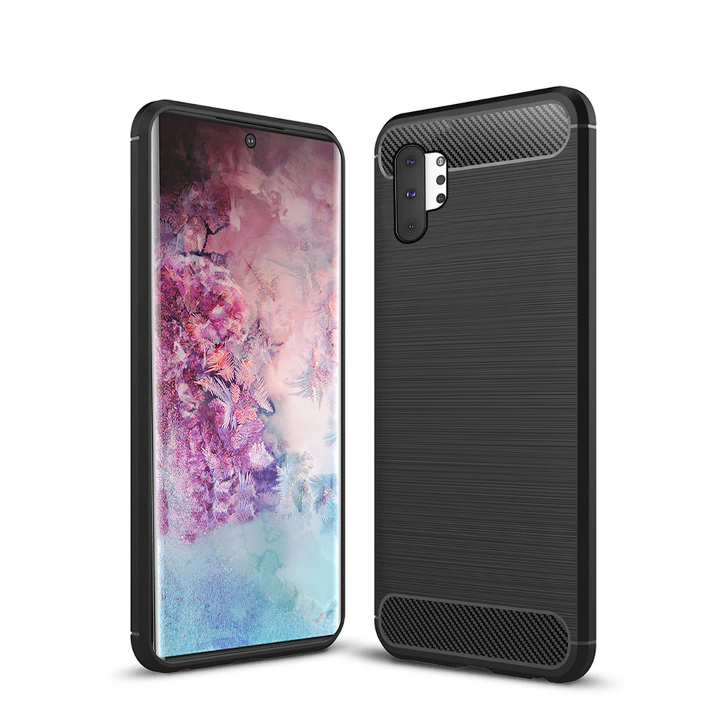 Galaxy Note 10 Plus Case Ultra Hybrid Carbon Shockproof Phone Cover Black