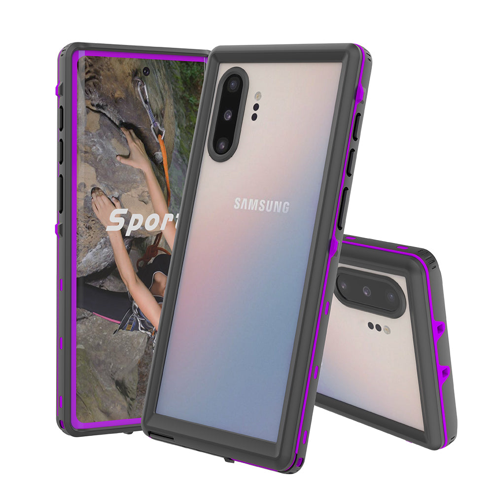 IP68 Waterproof Case for Samsung Note 10 Plus Built-in Screen Protector Purple