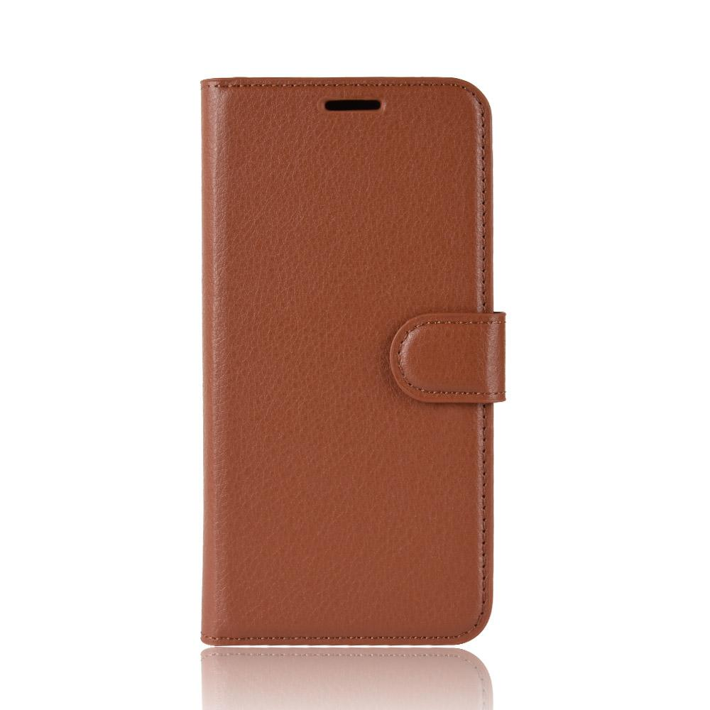 Wallet Case for Galaxy Note 10 Folio Leather with Card Slots Kickstand Brown
