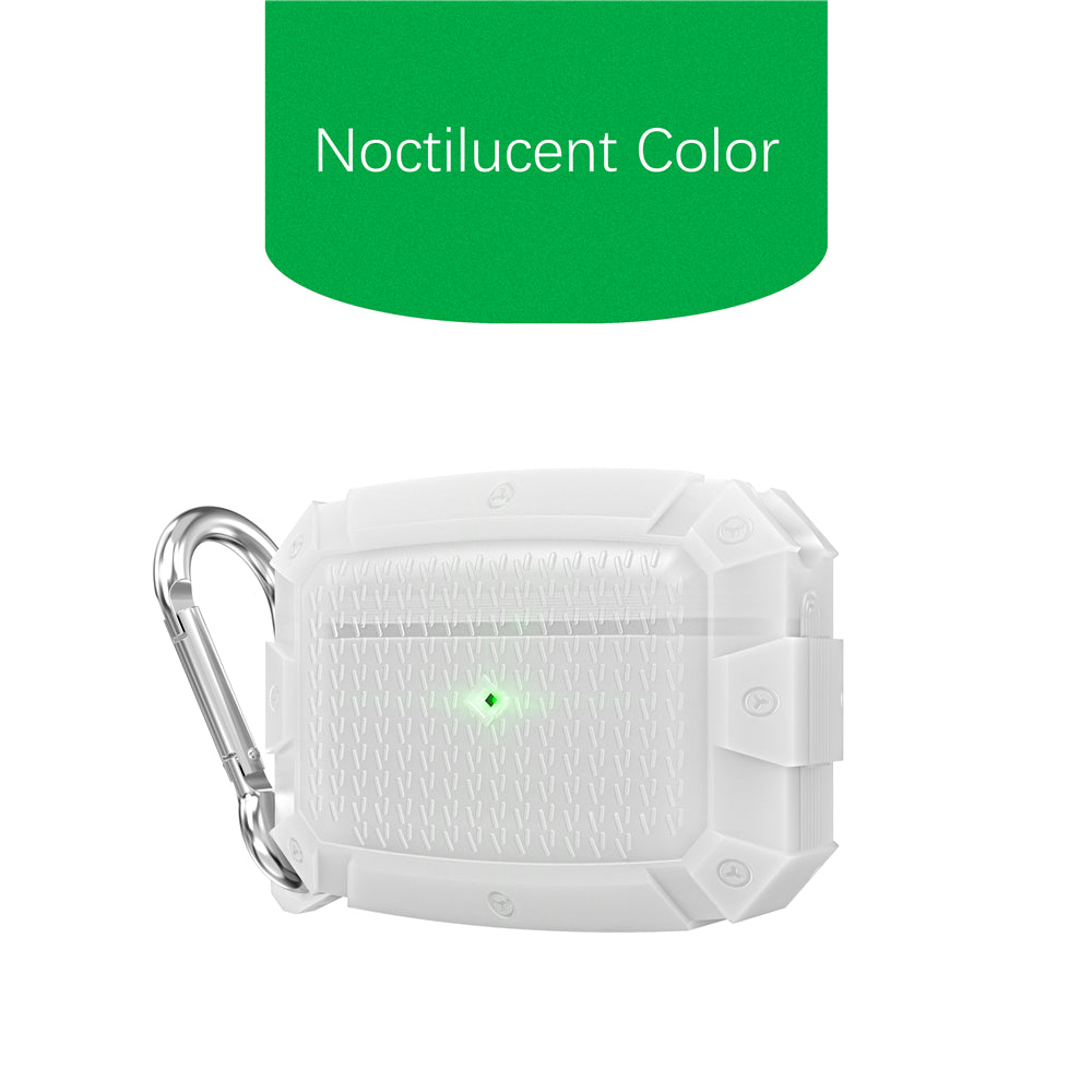 AirPods Pro Case Protective Cover Shockproof Silicone Skin with Keychain Dust Resistent Case Noctilucent Color