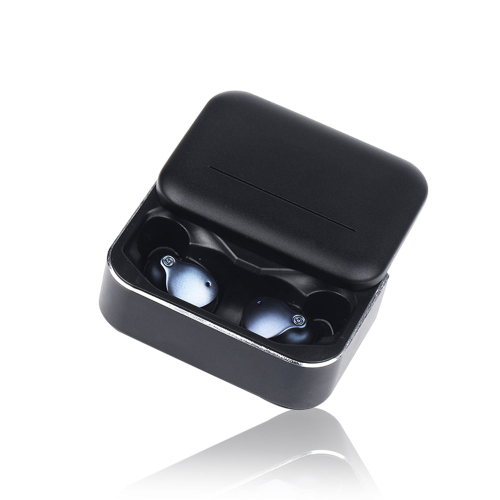 TWS Wireless Bluetooth Earbuds Running Sports Bluetooth V5.0 Earphones with Charging Case Blue