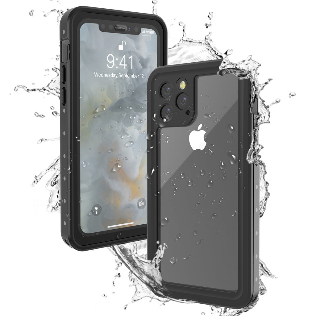iPhone 11 Pro Waterproof Case Built-in Screen IP68 Certified Dropproof Cover