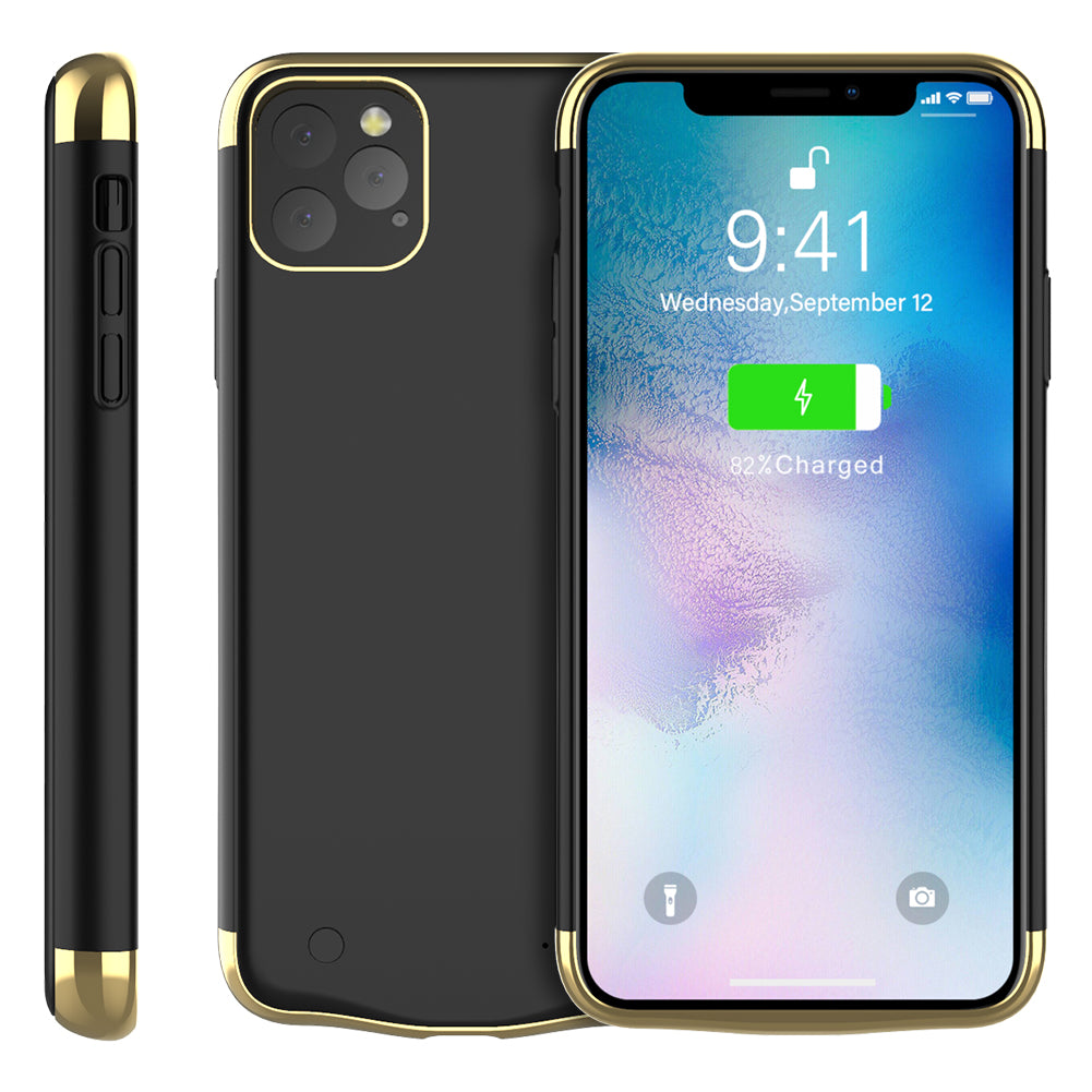 Battery Case for iPhone 11 Pro Max 6000mAh Portable Charging Case Backup Black