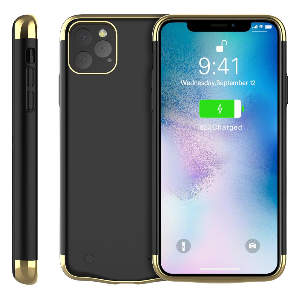 Battery Case for iPhone 11 Pro Max 6000mah Battery Charger Protective Phone Cover Black