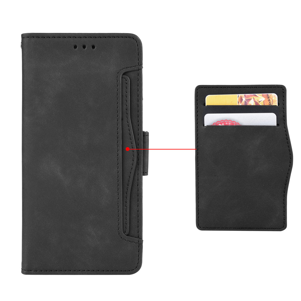Pixel 4 Leather Case with ID&Credit Cards Pocket PU Leather Wallet Black