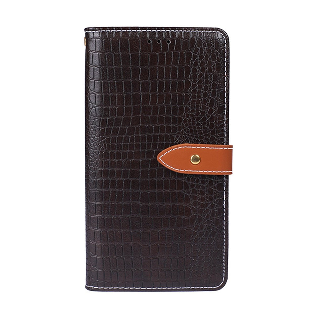 Pixel 4 XL Wallet Case Flip Kickstand Case with Card Slots Soft Phone Shell Dark Brown