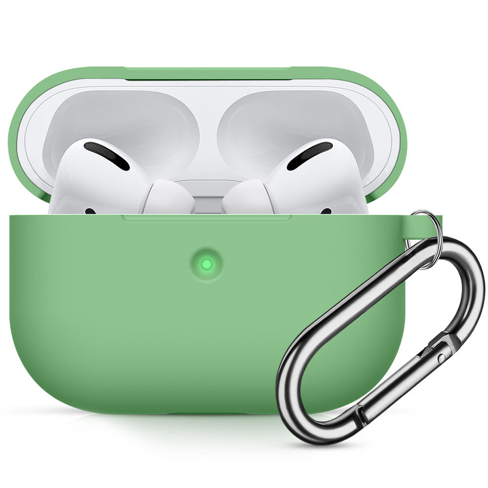 AirPods Pro Case with Keychain Shockproof Protective Silicone Cover Skin for AirPods Charging Case 3 Mint Green