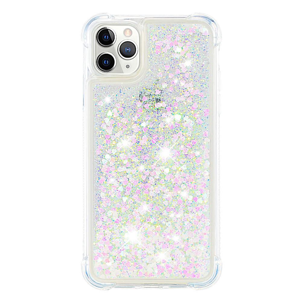 iPhone 11 Pro Max Case Bling Flowing Floating Sparkle TPU Liquid Case Colorful