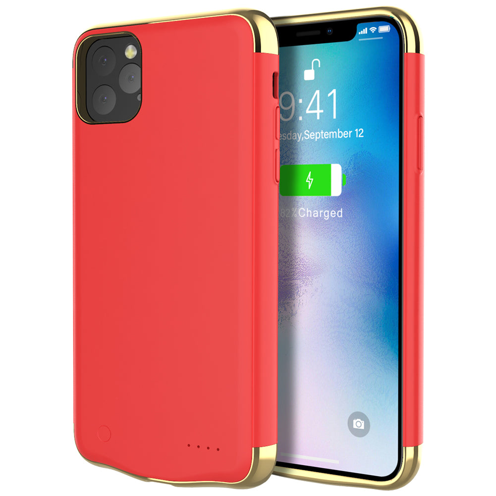 iPhone 11 pro max Battery Case Rechargeable Battery Pack Charger Protective Cover Red