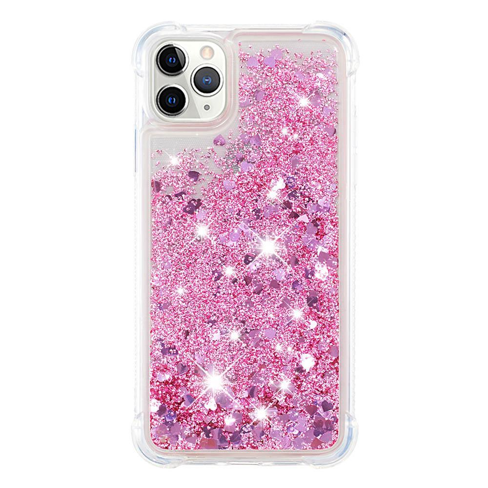 Glitter Liquid Case for iPhone 11 Pro Max Floating Bling Sparkle TPU Case Pink