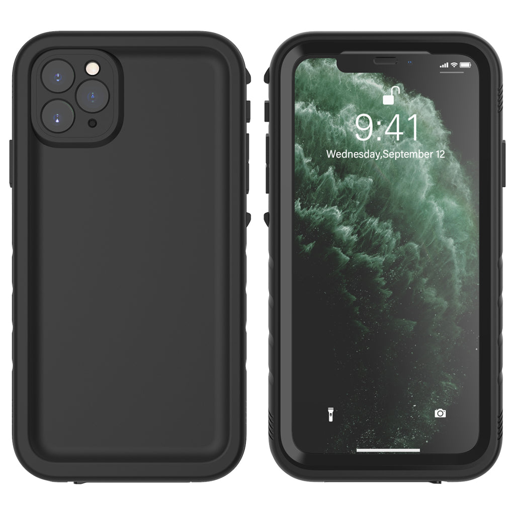 Waterproof Case for iPhone 11 pro max Fully Body Protective IP68 Underwater Case Black