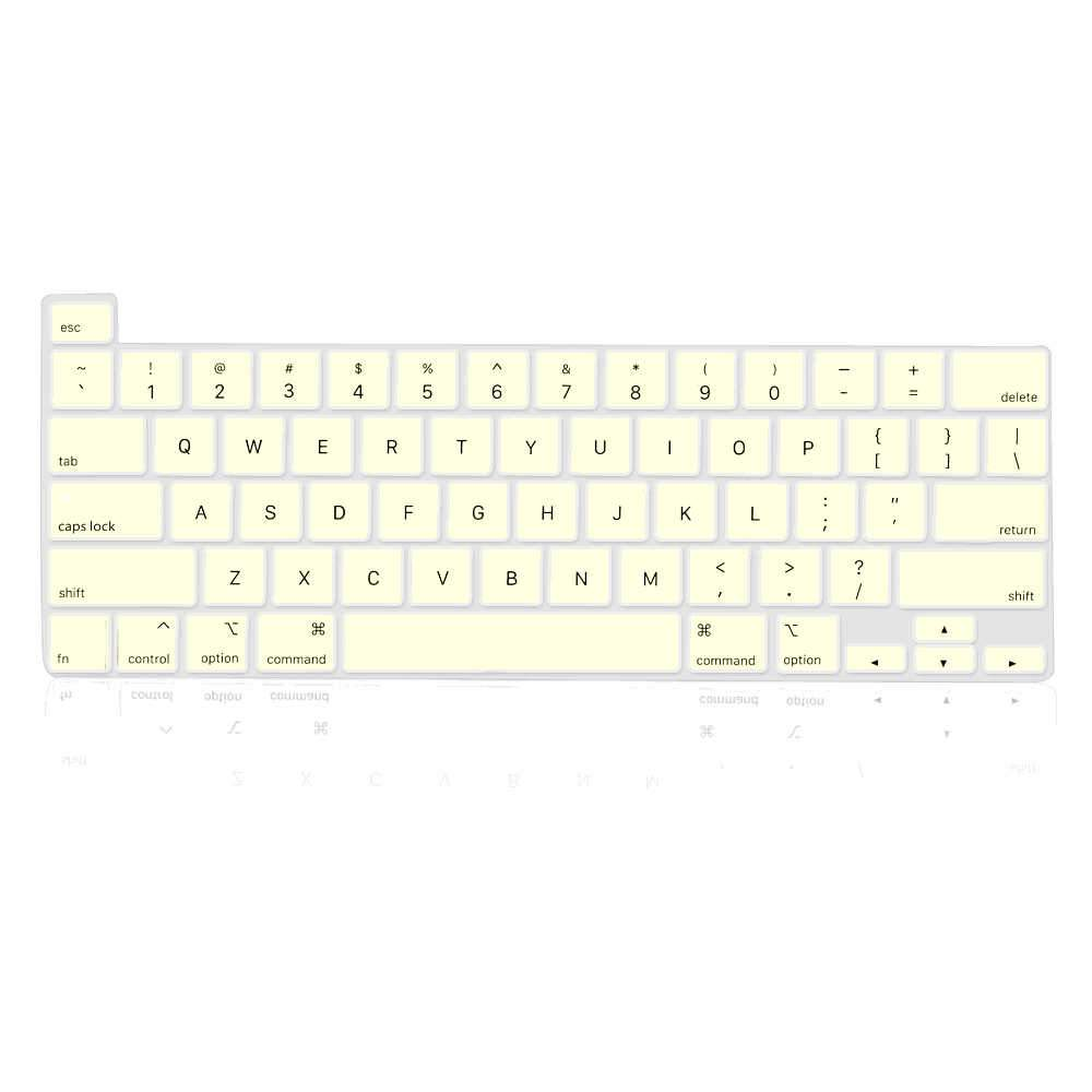 MacBook Pro 16 Inch Keyboard Protective Cover Dust-Proof Silicone Keyboard Protector (Creamy-white)