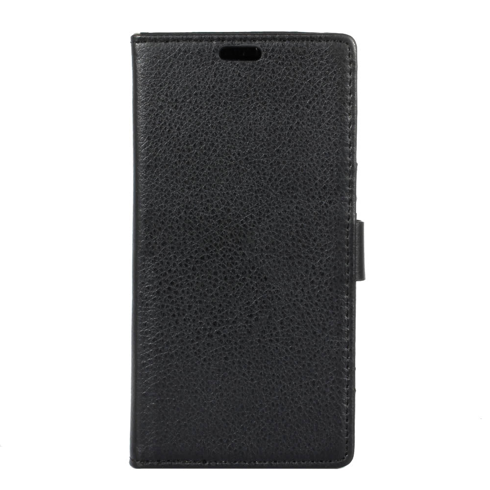 Leather Case for Moto Z4 Flip Wallet Stand Cover with Card Slots Black
