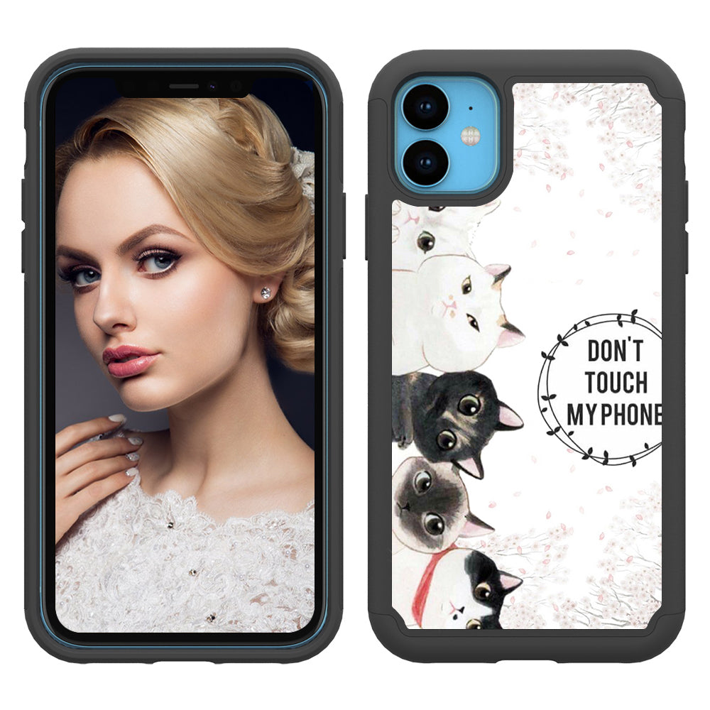 iPhone 11 Case Silicone Shockproof Anti-Drop Protection Phone Cover (Kitty)