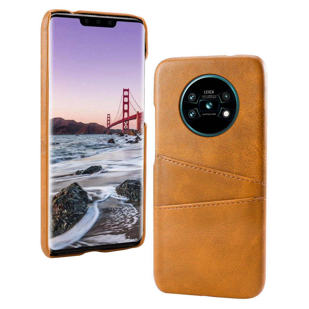 Huawei Mate 30 Pro Case Full Covered Shockproof PC Case with Card Holder Orange