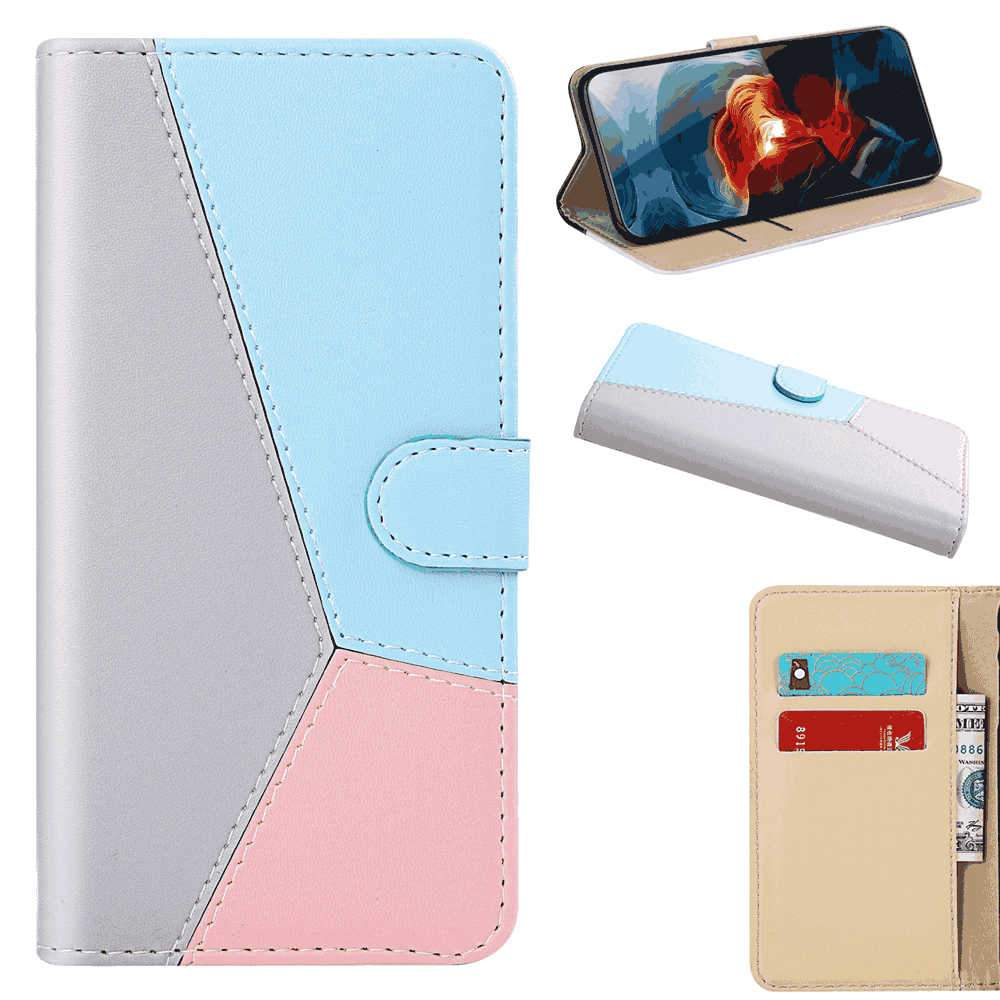 Sony Xperia 5 Wallet Case Leather Wallet Flip Pouch Case Cover with Card Slots Kickstand Grey