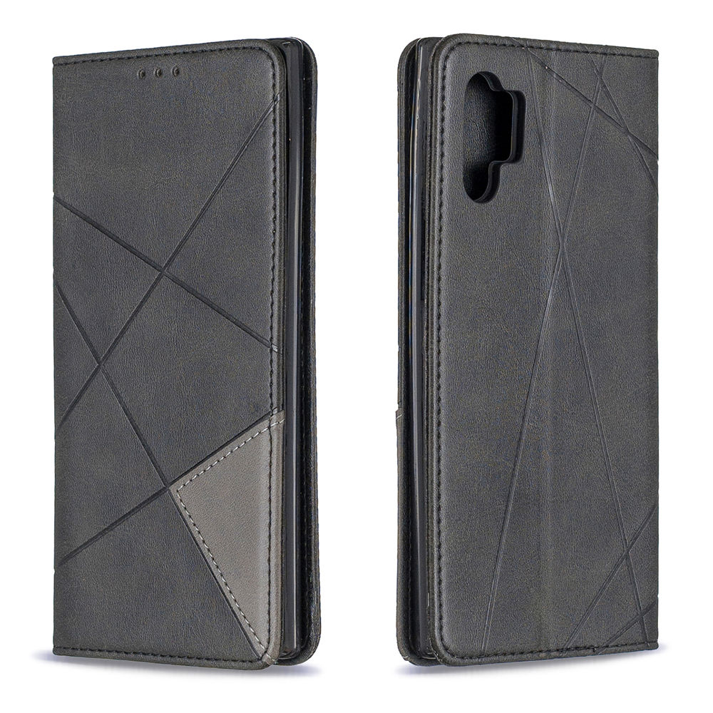 Phone Wallet Case for Galaxy Note 10 Plus with Card Slots Leather Cover Black