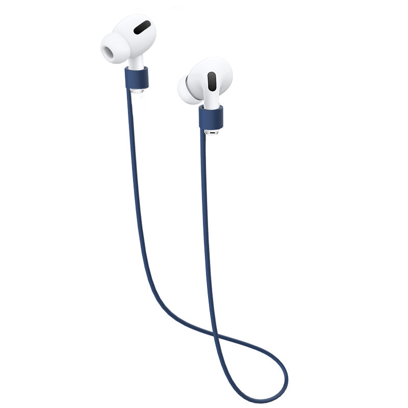 Airpods Pro Strap Anti-Lost Airpods Cord Sport String Silicone Cable Connector Airpods Accessories Dark Blue