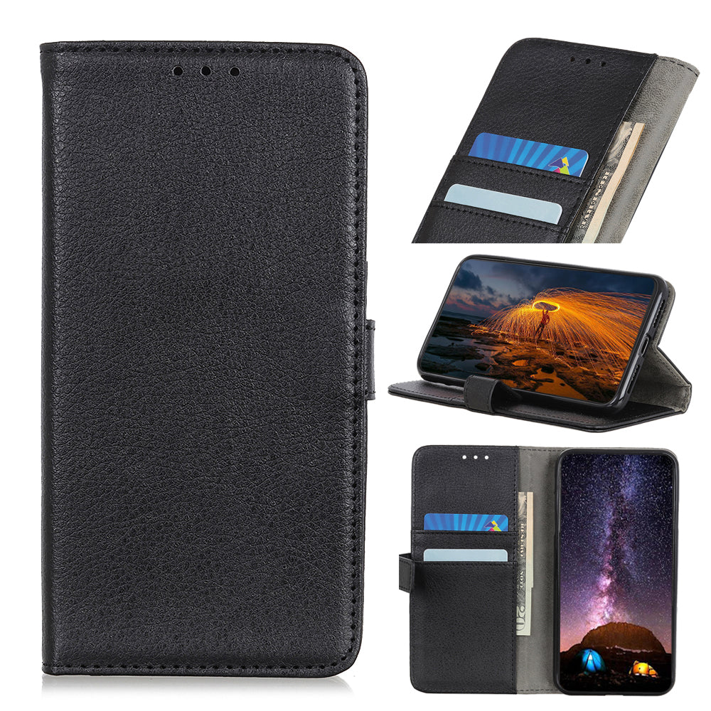 Leather Covers Wallet Case for iPhone 11 pro max with 2 Credit Card Slots & Kickstand Black