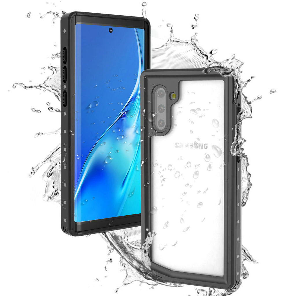 Samsung Note 10 Plus 5G Waterproof Case IP68 Built-in Screen Protector Black