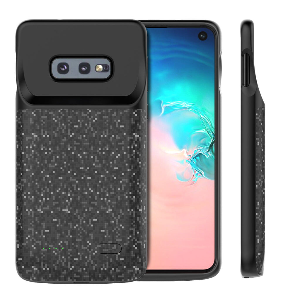 Samsung Galaxy S10e Charging Case 4700mAh Portable Extended Rechargeable Battery Cover Pack Black