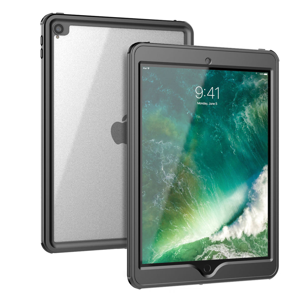 2019 iPad Air 2 Case with Screen Protector IP68 Swimming Underwater Waterproof  Case Black