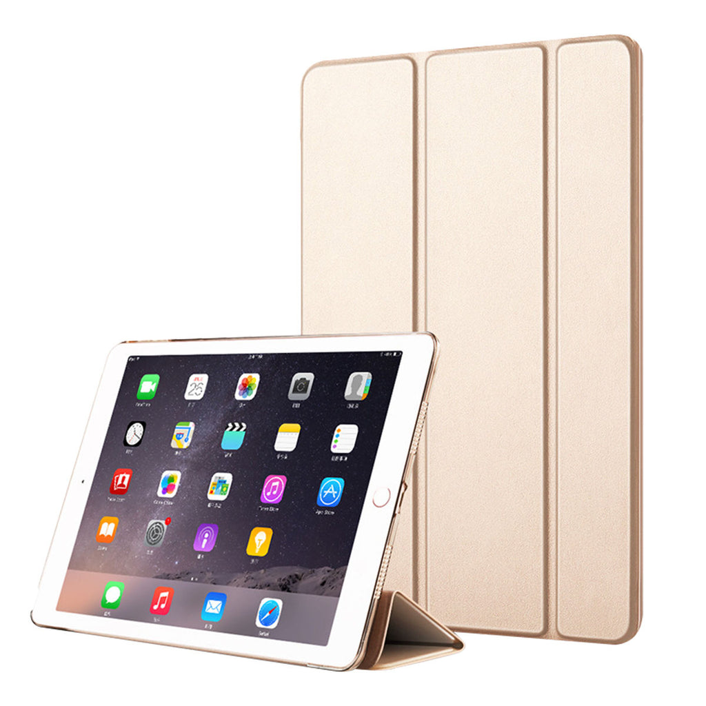 2019 iPad Air Leather Case Ultra Thin Cover with Magnetic Stand Sleep/Wake Gold