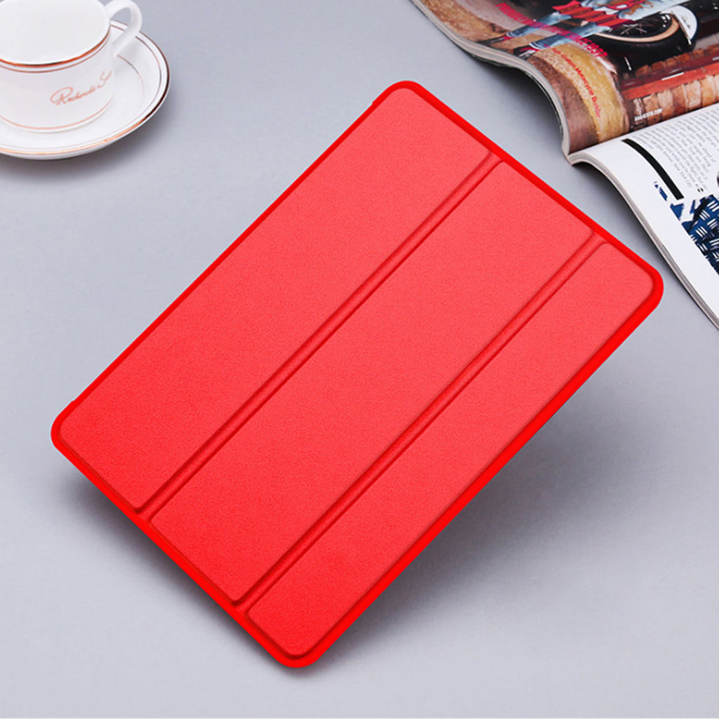 iPad Air 2019 Leather Case Slim Folding Stand Cover Auto Wake/Sleep Red