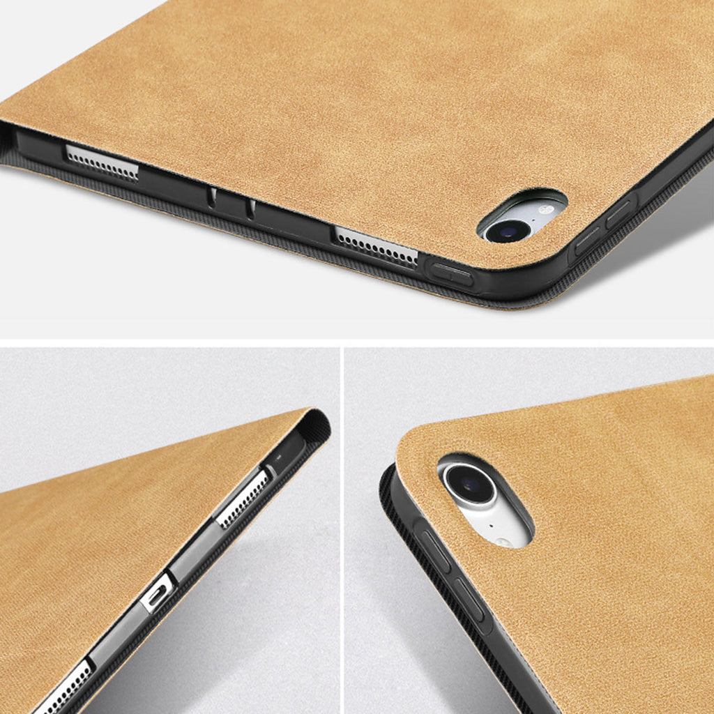 iPad Air 2019 Leather Case Multi-Angle Viewing Folio Stand Cover with Auto Sleep/Wake Camel