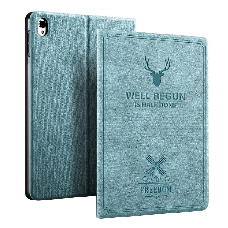 iPad Mini 5 2019 Leather Case Auto Sleep/Wake Smart Cover Blue