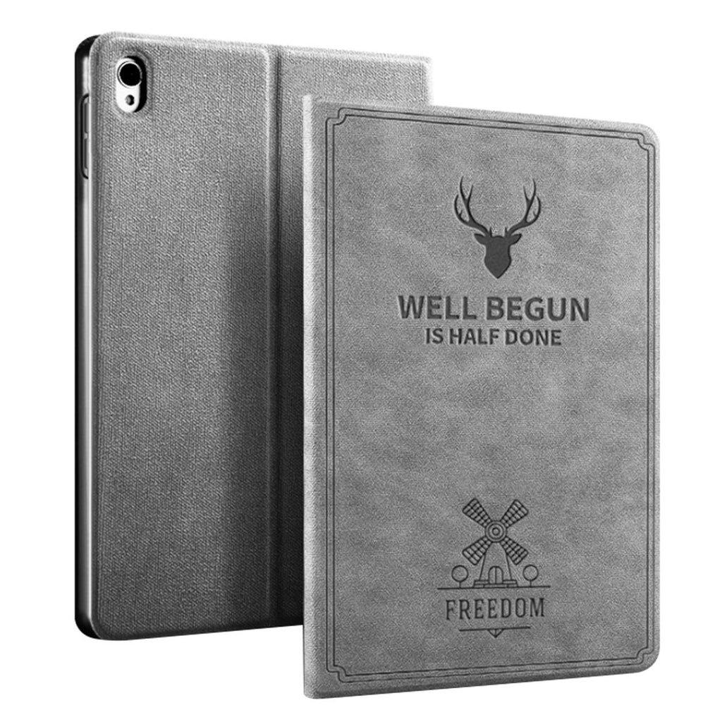 iPad Mini 5 2019 Leather Case Folio Stand Cover Auto Sleep/Wake Grey