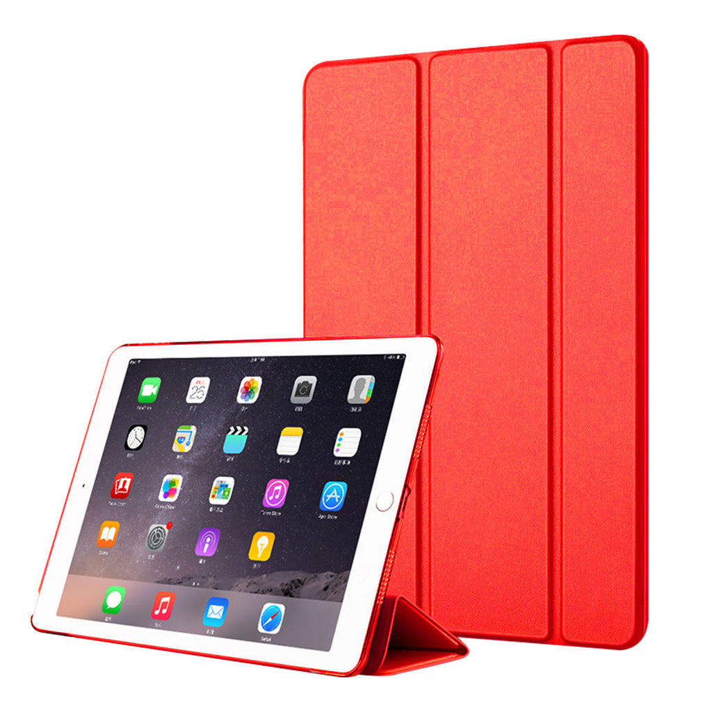 iPad Mini 5 2019 Leather Case Slim Mini Trifold Cover with Auto Wake /sleep Red