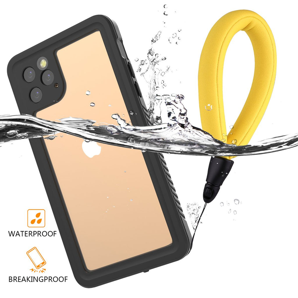 iPhone 11 Pro Max Waterproof Case Full-Body Rugged Resistant Cover with Floating Strap