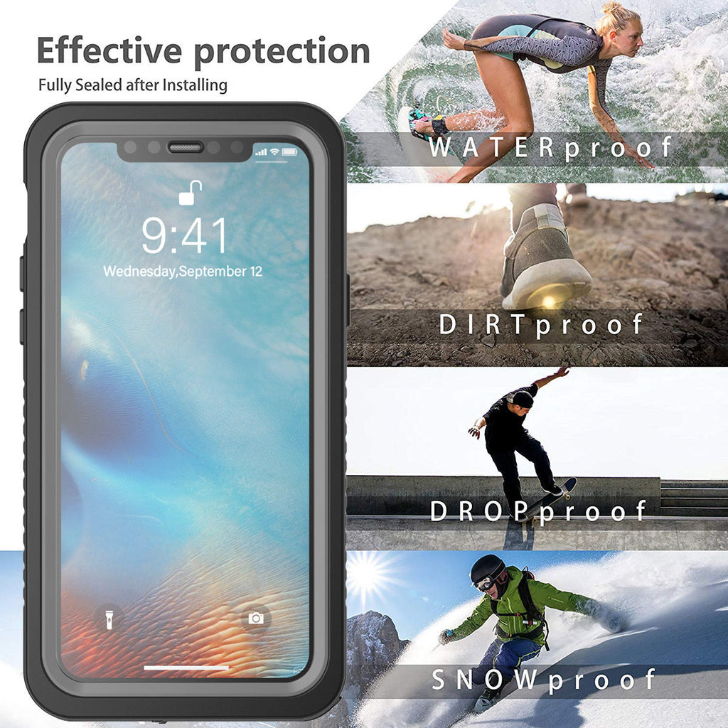 iPhone 11 Pro Waterproof Case 360 Degree Full Body Protection Underwater Cover