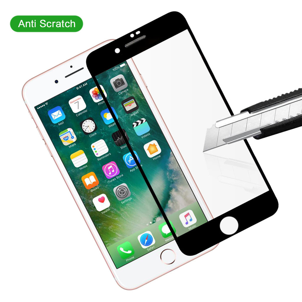 iPhone 7 Plus iPhone 8 Plus Tempered Glass Screen Protector Bubble Free Film 2 Pack