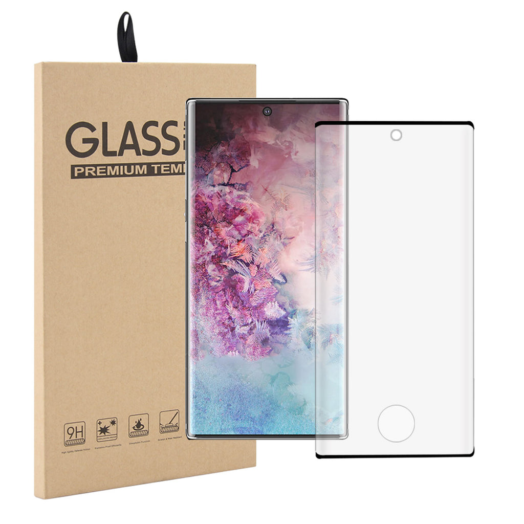 Samsung Galaxy Note 10 Screen Protector 3D Curved Bubble Free Tempered Glass 1 Pack