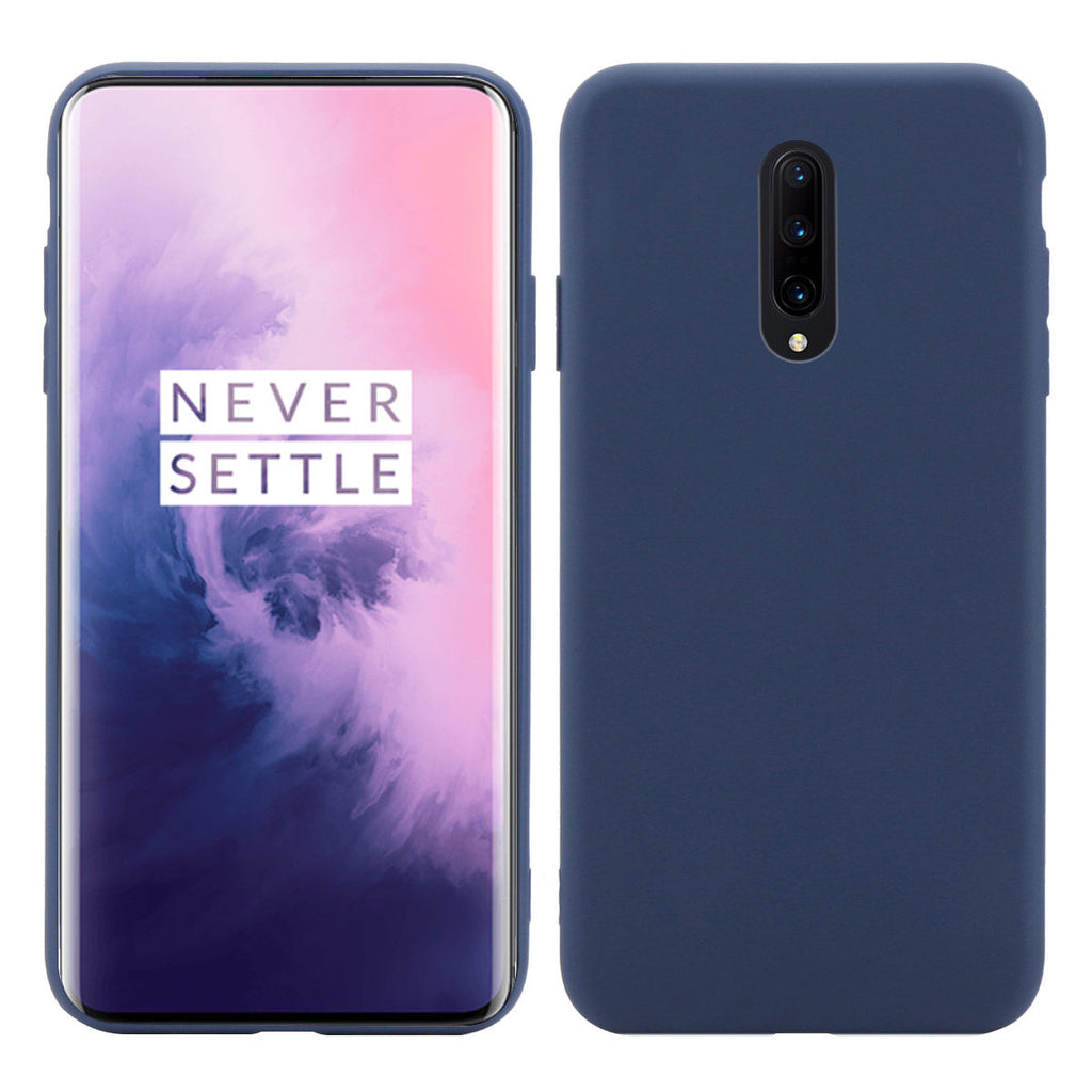 Cases for Oneplus 7 Anti Fall Protective Candy Phone Cover Dark Blue