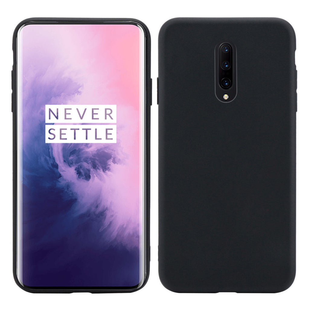 Case for Oneplus 7 Soft TPU Shock Resistant Anti Slip Candy Phone Case Black