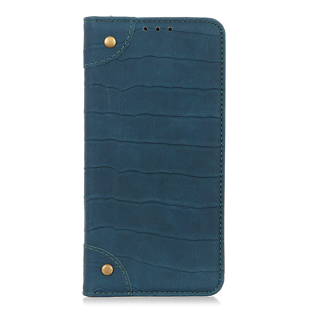 Oneplus 7 leather wallet case card holder flip phone case kickstand green