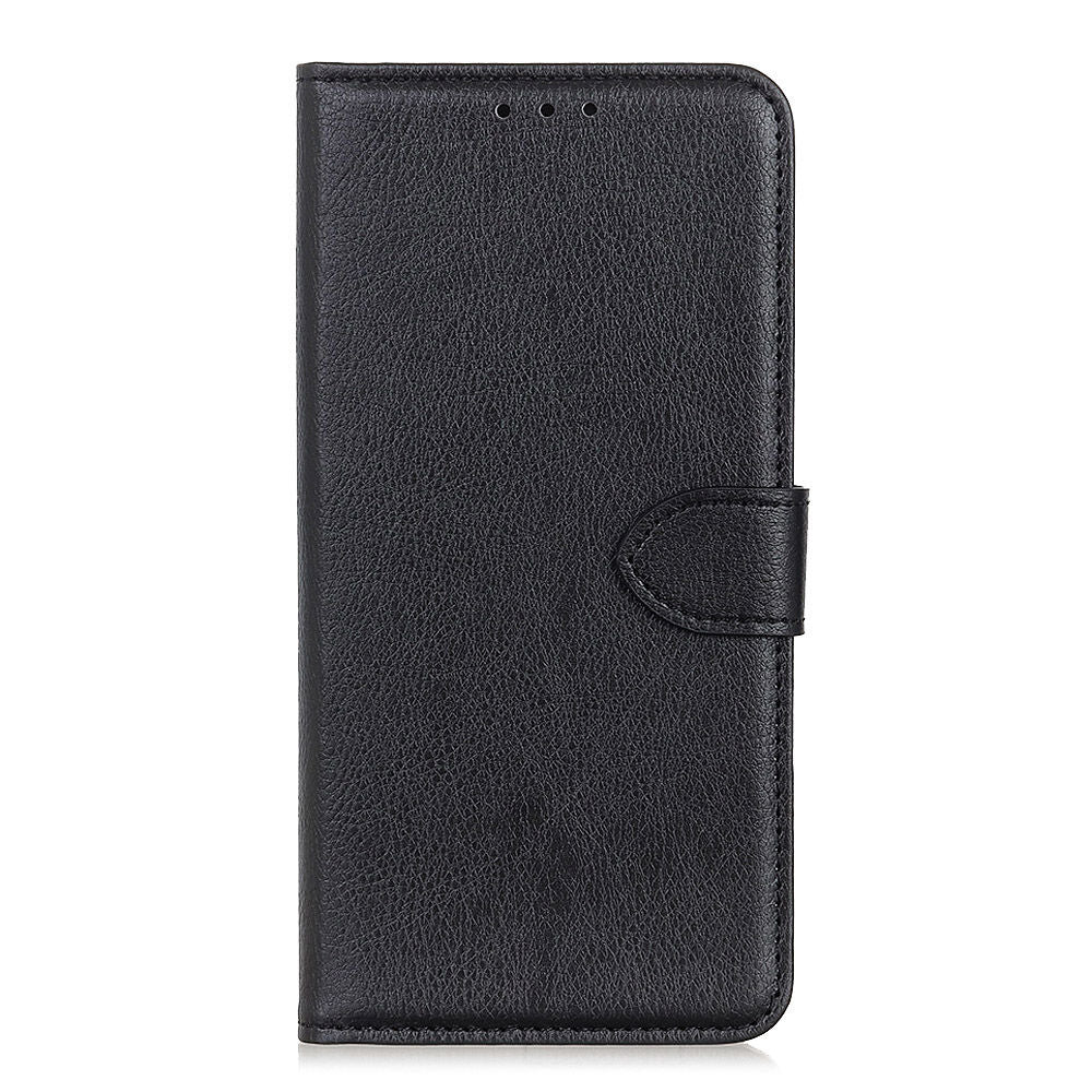 Oneplus 7 Leather Wallet Case with Card Slots & Kickstand Flip Cover Black