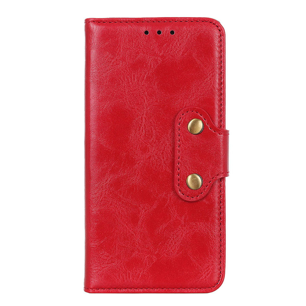 Oneplus 7 Leather Case ID Cash Credit Card Slots Folio Flip Wallet Case Red