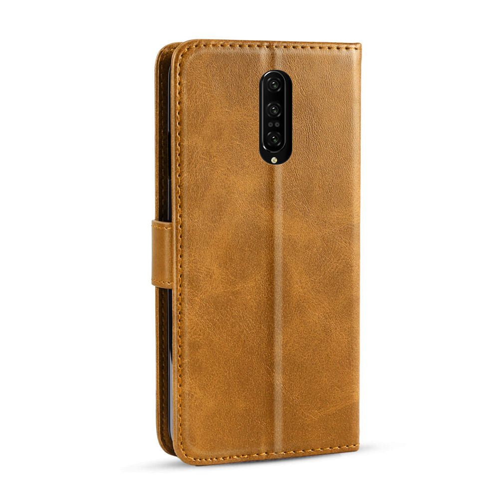 Oneplus 7 Pro Wallet Case Protective Flip Stand Cover with Card Slot Magnetic Closure Yellow