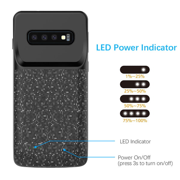 more photos 95dde 1c901 Samsung Galaxy S10 Battery Case 4700mAh Portable Extended Charging Cover  Slim Portable Charger Pack