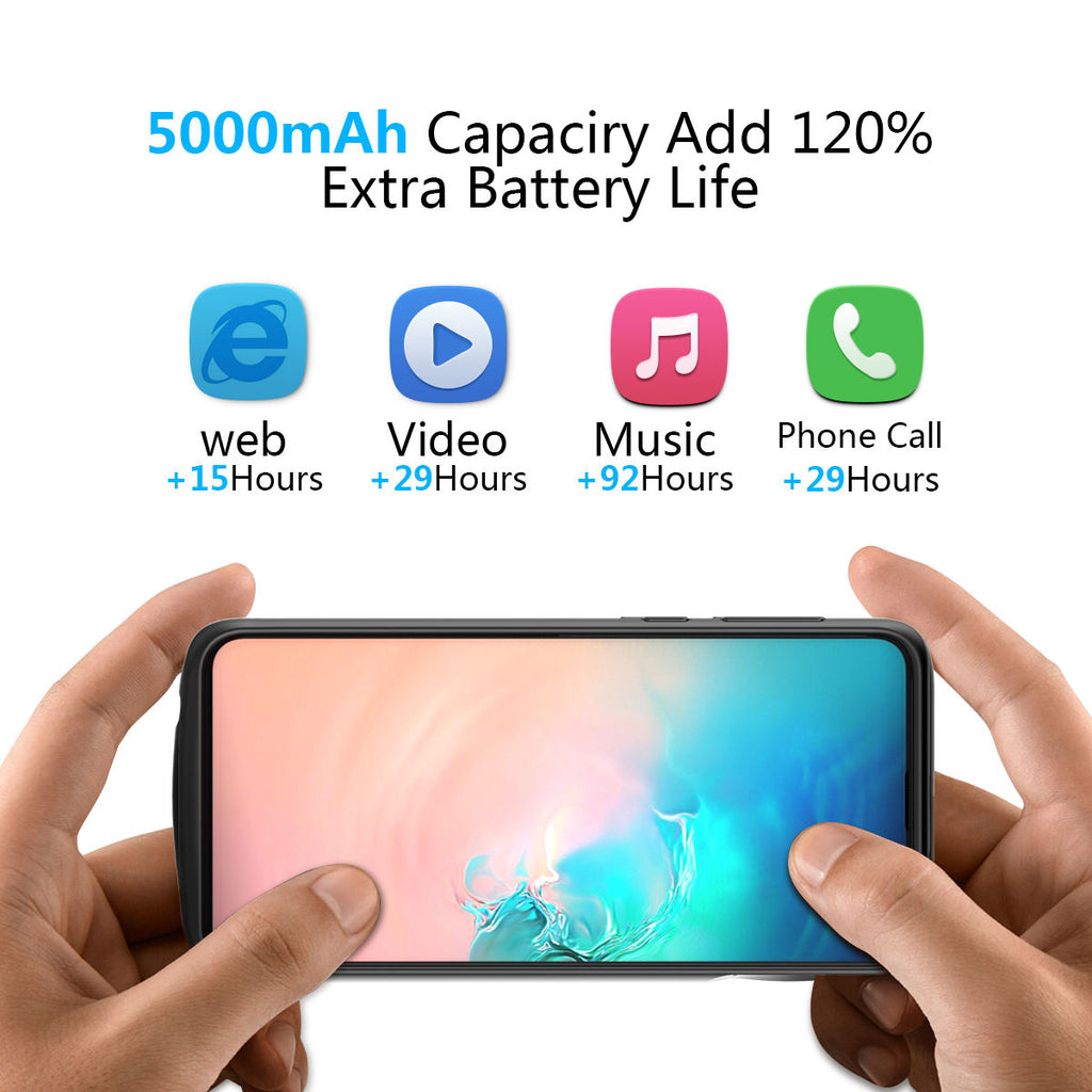Samsung Galaxy S10 Plus Charging Case 5000mAh Portable Extended Battery Backup
