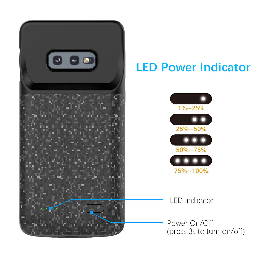 Samsung Galaxy S10e Charging Case 4700mAh Portable External Rechargeable Battery Backup
