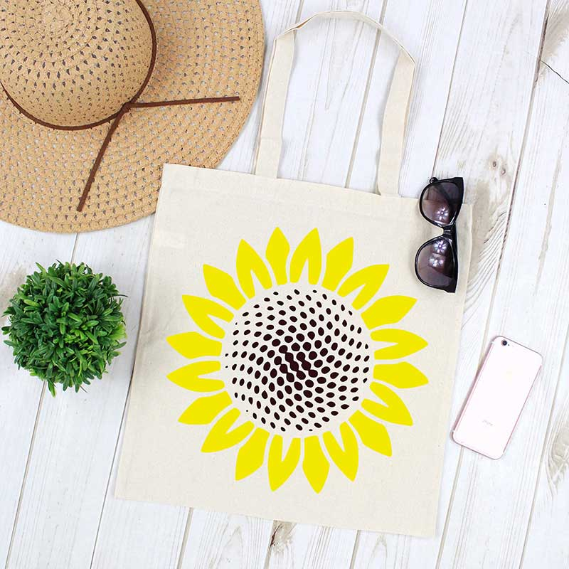 Sunflower Canvas Tote
