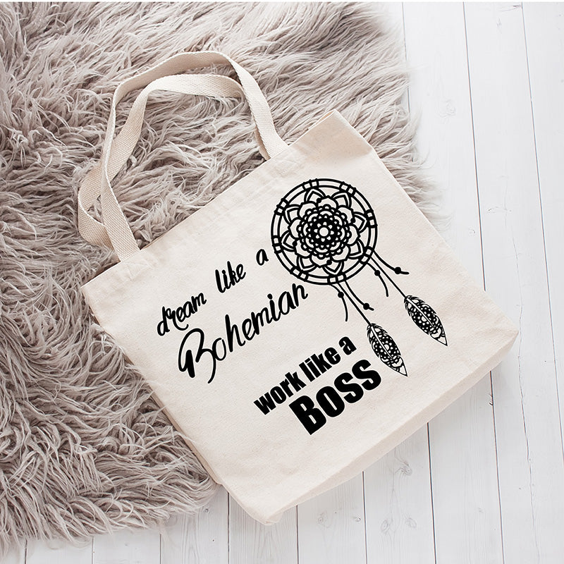 Work Like A Boss Canvas Tote