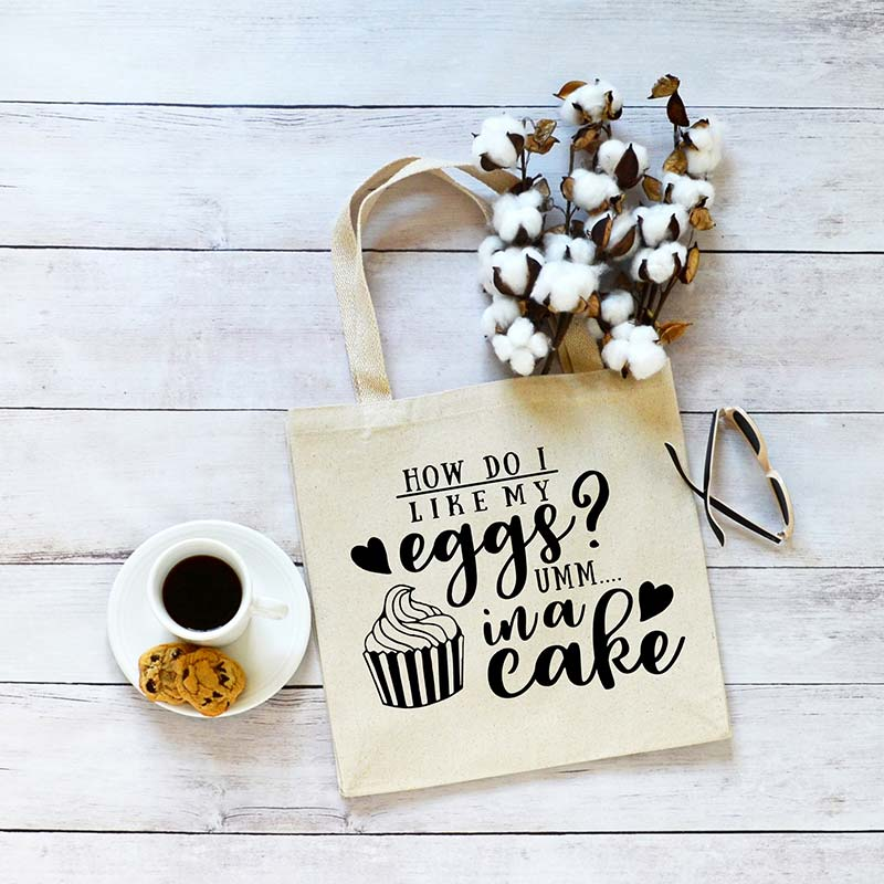 Eggs In A Cake Canvas Tote