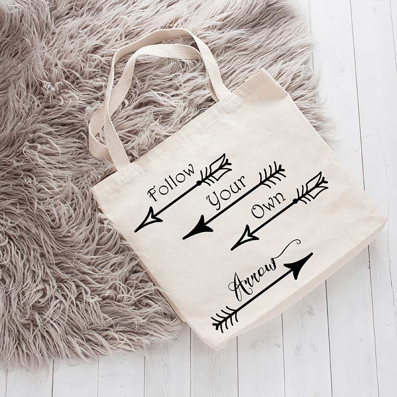 Follow Your Own Arrow Canvas Tote