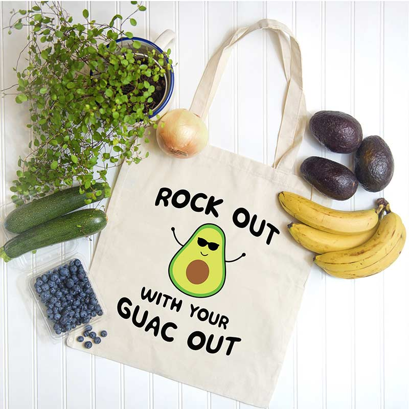 Rock Out With Your Guac Out Canvas Tote